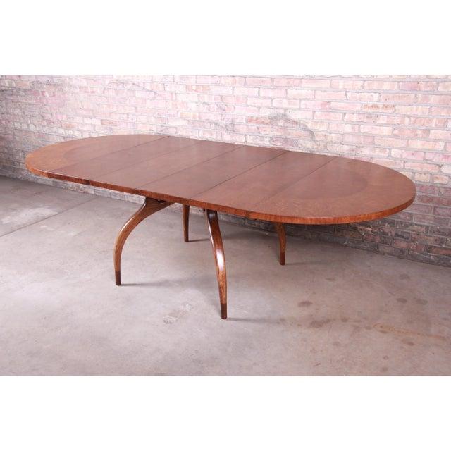 Danish Modern Harold Schwartz for Romweber Mid-Century Modern Spider Leg Extension Dining Table, Newly Restored For Sale - Image 3 of 13