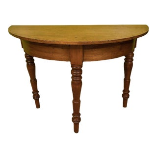 Oak Demilune Table For Sale