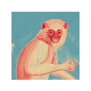 Antique 'Red Monkey' Archival Print For Sale