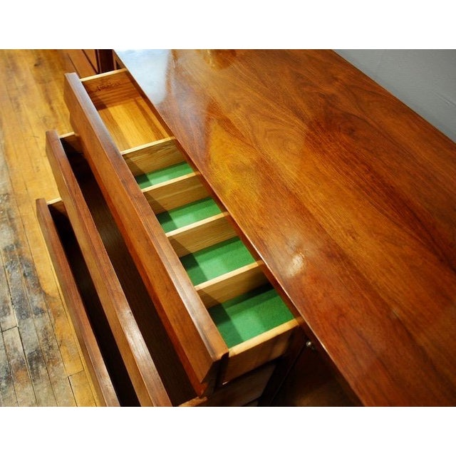 Mid Century Modern American of Martinsville Walnut Credenza For Sale In Boston - Image 6 of 8