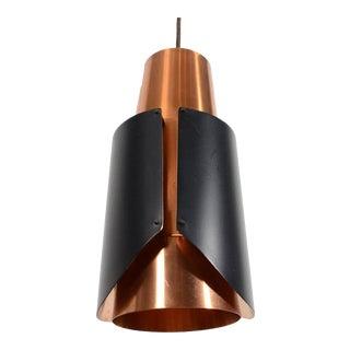 1960s Vintage Lyfa Østerport Bent Karlby Copper Pendant For Sale