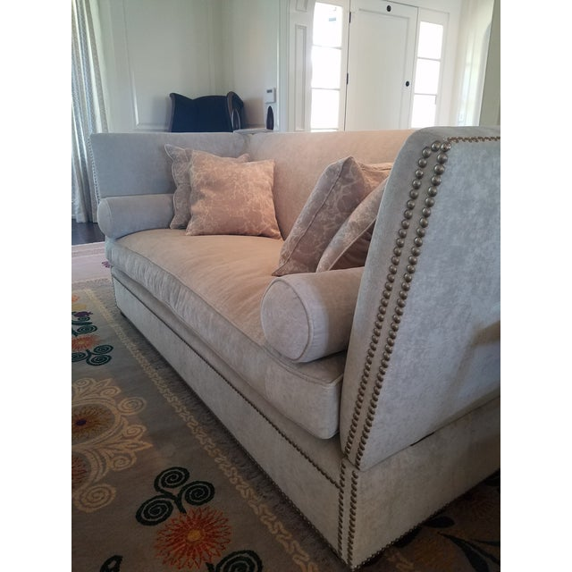 George Smith Light Silver Grey Sofa - Image 4 of 9