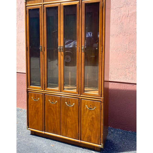 Drexel Accolade Campaign China Cabinet For Sale - Image 11 of 12