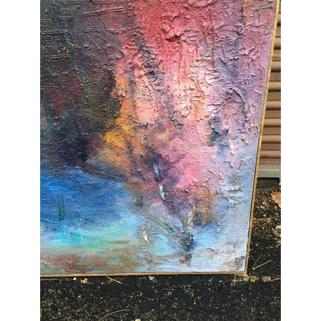 1980s Vintage Abstract Mixed Media Impasto by Louis Papp For Sale In Indianapolis - Image 6 of 12