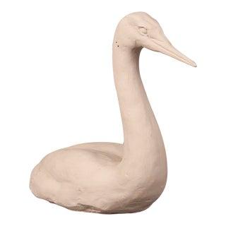 1960s Plaster Maquette Swan Sculpture For Sale