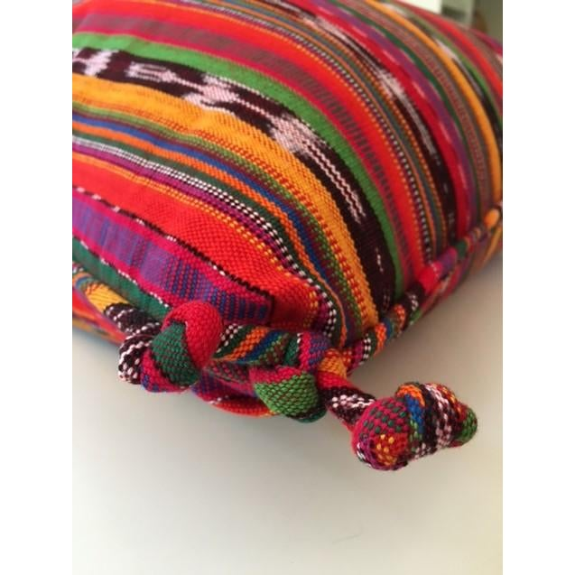 Boho Chic Guatemalan Striped Pillows - A Pair For Sale - Image 3 of 4