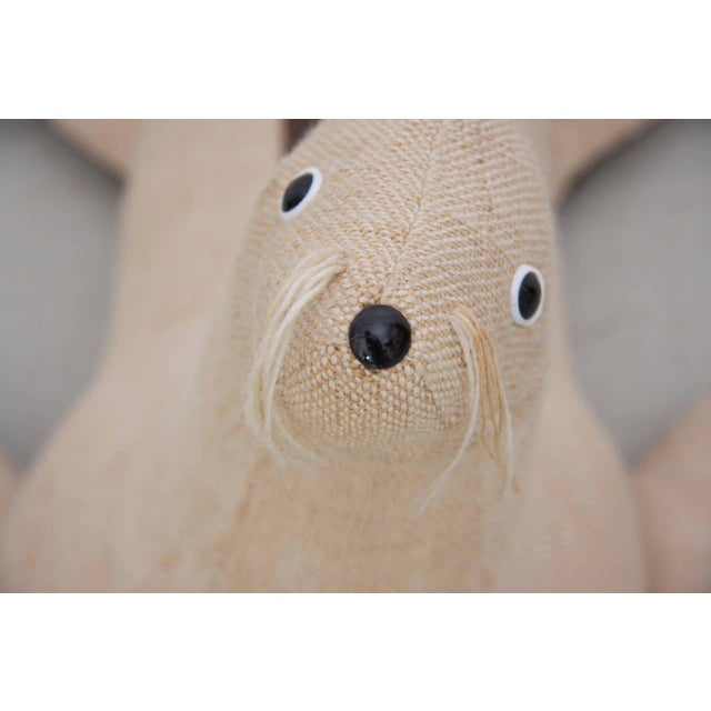 1970s Rare Leather and Jute Therapeutic Toy Seal by Renate Muller For Sale - Image 5 of 7