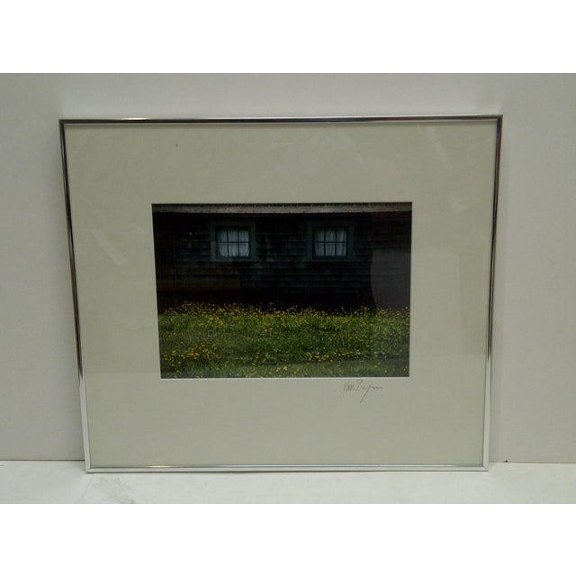 "This is a Signed Color Photograph -- Titled ""Covered Windows"" -- By Van Brynn -- The Photograph Is Matted And Framed In A..."