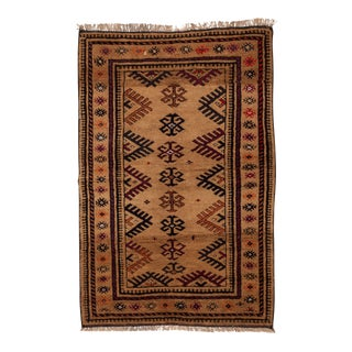 "1950s Turkish Wool & Camel Hair Area Rug - 40"" x 62"" For Sale"