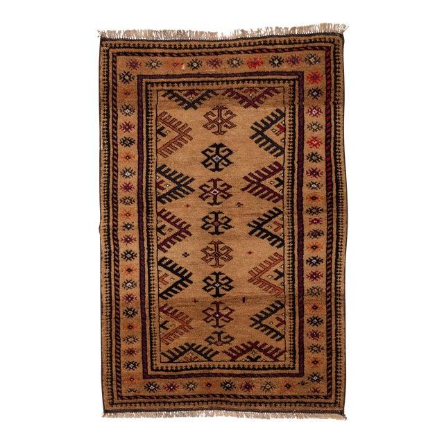 "1950s Turkish Wool & Camel Hair Area Rug - 40"" x 62"" - Image 1 of 4"