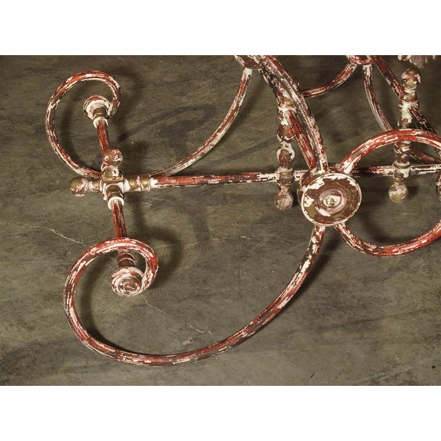 French Iron and Marble Pastry Table For Sale - Image 12 of 13