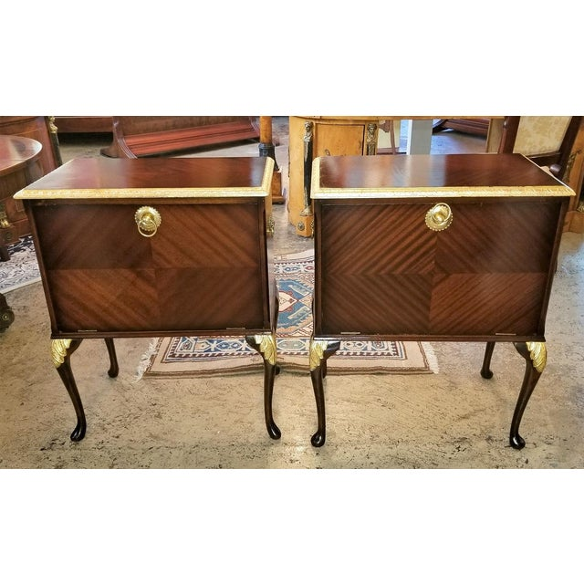 Chippendale Mahogany With Gilt Accents Side Tables / Nightstands - a Pair For Sale - Image 13 of 13