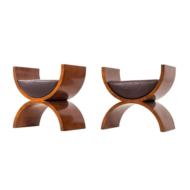 "Wood Jay Spectre ""Curule"" Benches For Sale - Image 7 of 7"