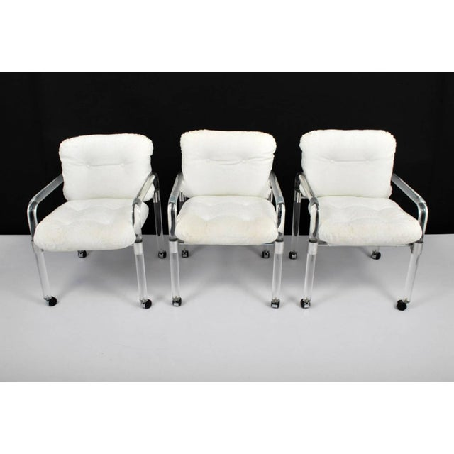 "Jeff Messerschmidt Set of Six ""Pipe Line Series II Chairs"" in Molded Lucite by Jeff Messerschmidt For Sale - Image 4 of 7"