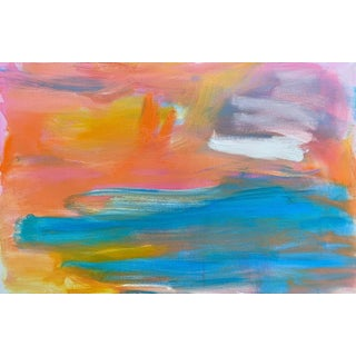 """""""Sulu Sea"""" by Trixie Pitts Abstract Expressionist Seascape Oil Painting For Sale"""