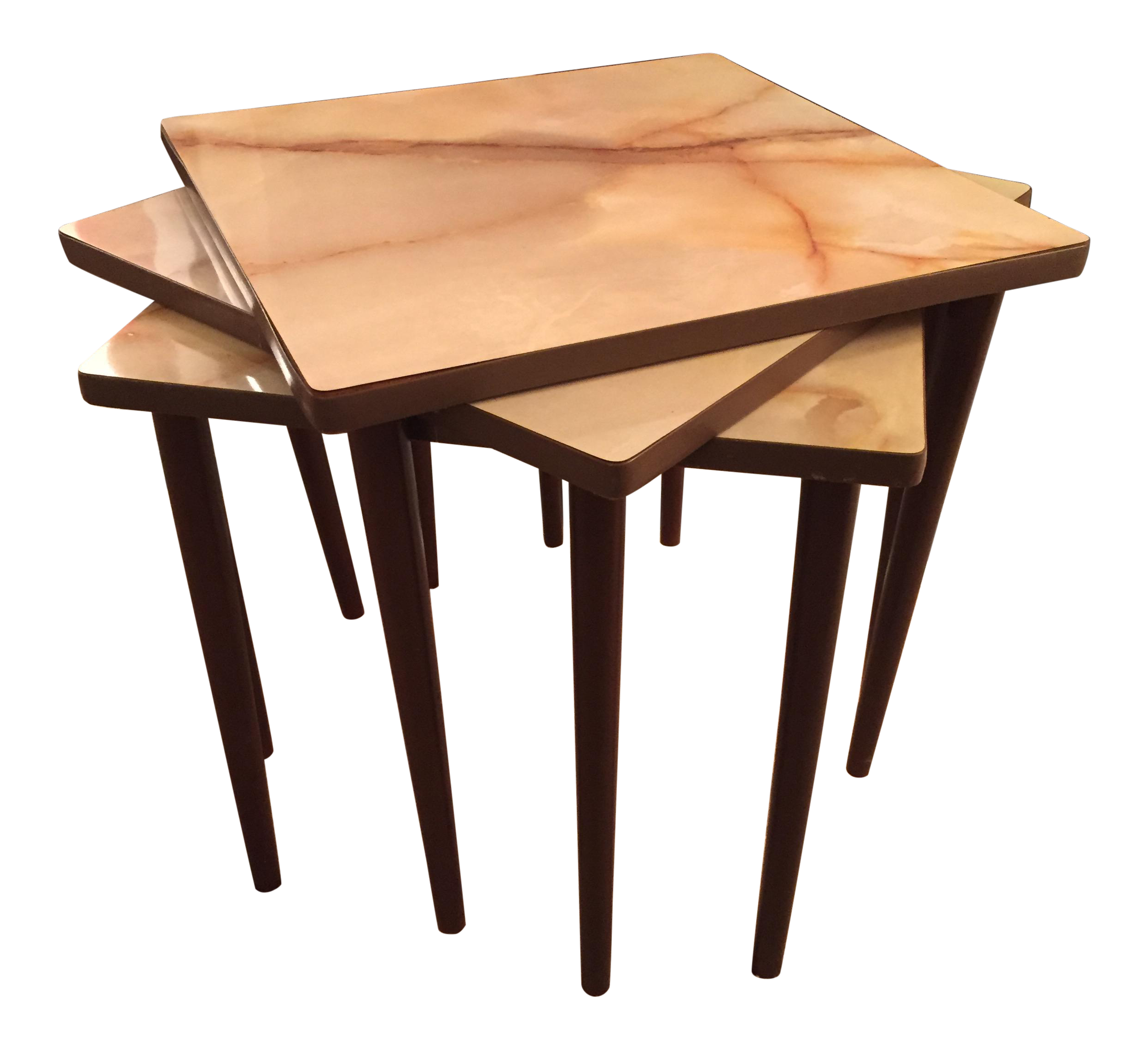 Mid-Century Marble Laminate Top Nesting Tables - Set of 3 - Image 1 of  sc 1 st  Chairish & Mid-Century Marble Laminate Top Nesting Tables - Set of 3 | Chairish