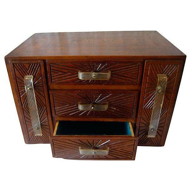Monogrammed Wood Inlay Box - Image 1 of 5