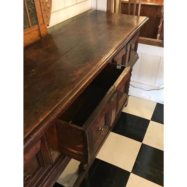 English Traditional 18th Century English Oak Dresser Base For Sale - Image 3 of 7