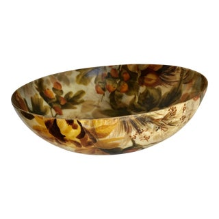 Vintage Golden Roses Serving Bowl