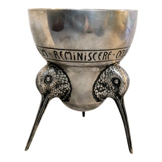 German Silver Hunting Goblet Bird Cup For Sale