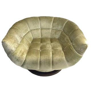 "Mid Century Modern Barrel Back Lounge Chair Tulip Club Swivel Chair - 44"""
