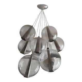 Modern Arteriors Large Adjustable Cluster Light Chandelier For Sale