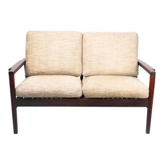 1960s Vintage Rs Associates of Montreal Teak Loveseat For Sale