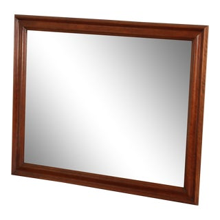 Pennsylvania House Solid Cherry Frame Rectangular Wall Mirror For Sale