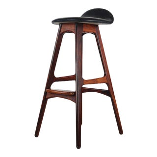 1960s Vintage Danish Rosewood Erik Buch Bar Height Stool For Sale