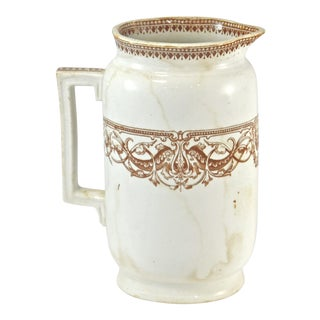 1800s English Transferware Pitcher For Sale