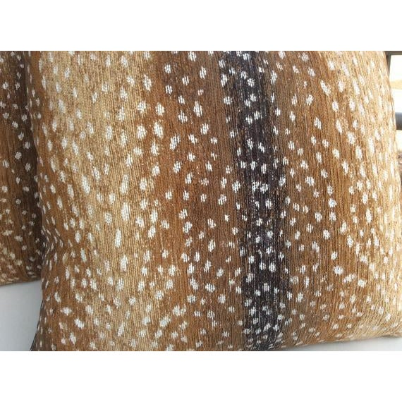 """Contemporary """"Antelope"""" by Lee Industries Chenille Pillows - a Pair For Sale - Image 3 of 4"""