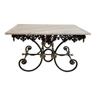 Antique French Marble Patisserie Table For Sale