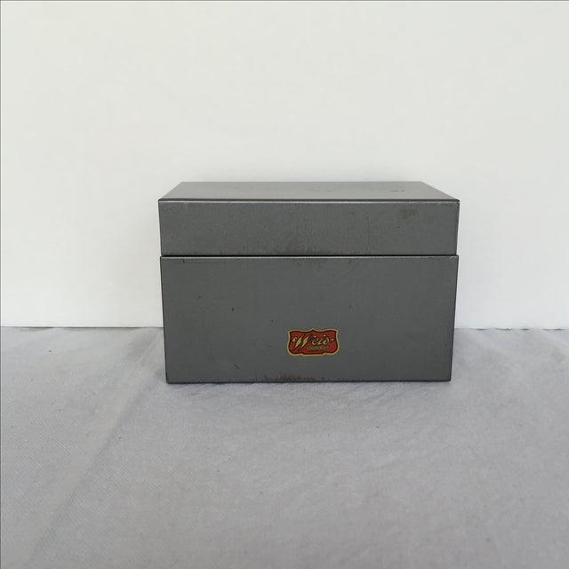 Mid-Century Metal Index Box - Image 2 of 7