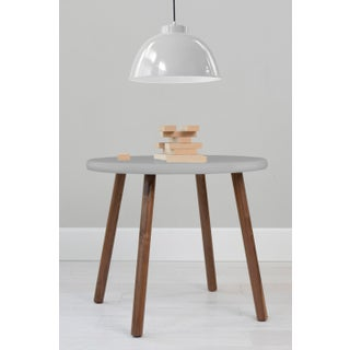 "Peewee Large Round 30"" Kids Table in Walnut With Gray Finish Accent Preview"
