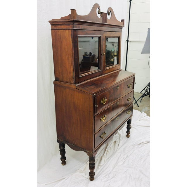 Late 19th Century Antique Secretary Cabinet For Sale - Image 5 of 13