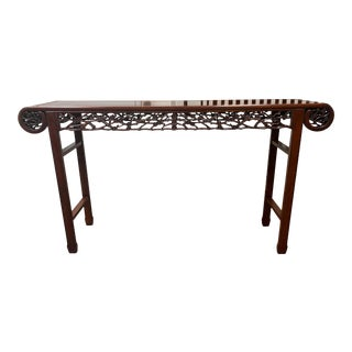Asian Rosewood Console Table For Sale