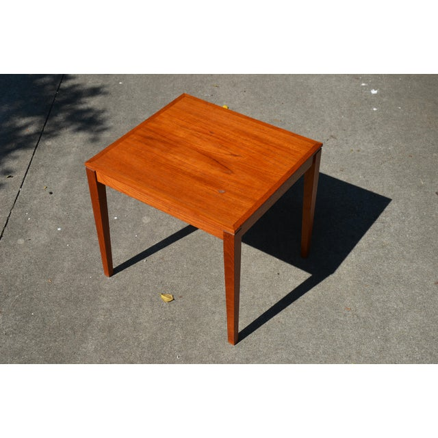 Bent Silberg Mobler 20th Century Danish Modern Bent Silberg Mobler Side Table For Sale - Image 4 of 8