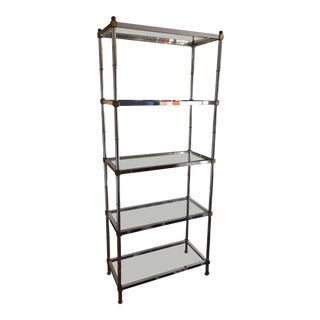 1960s Hollywood Regency Chrome Etagere For Sale