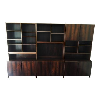 Mid-Century Modern Danish Rosewood Wall Unit For Sale