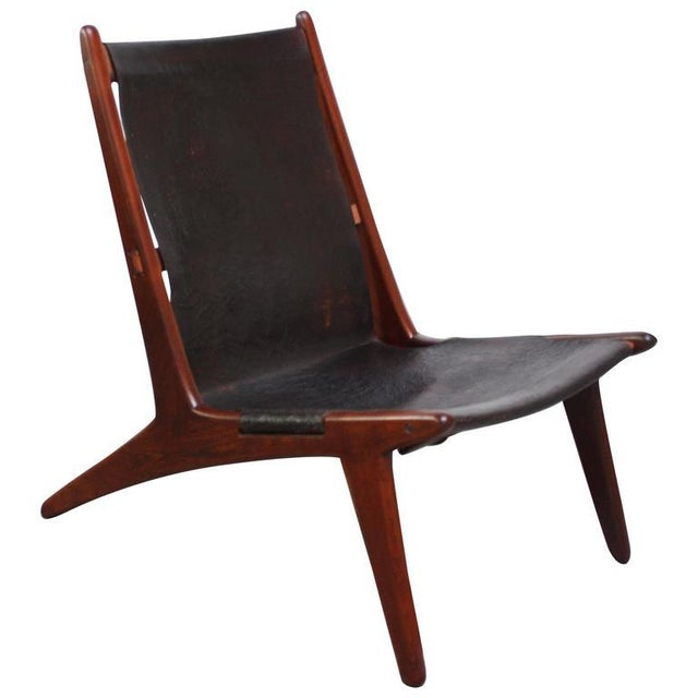Swedish Teak and Leather Hunting Chair Model #204 by Uno and Östen Kristiansson - Image 3 of 11