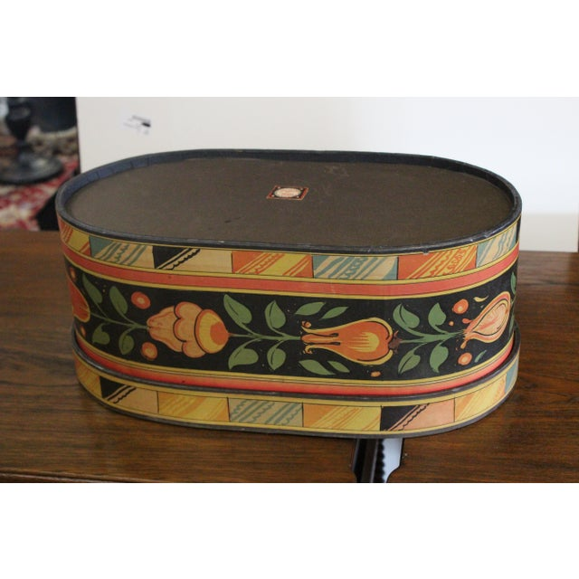 Mid 20th Century 20th Century Art Nouveau Band Hat Box For Sale - Image 5 of 9