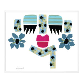 Peri by Melvin G in White Frame, Small Art Print For Sale