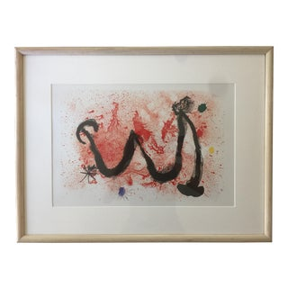 "Framed Offset Lithograph on Paper by Joan Miro ""Danse De Feu"" For Sale"