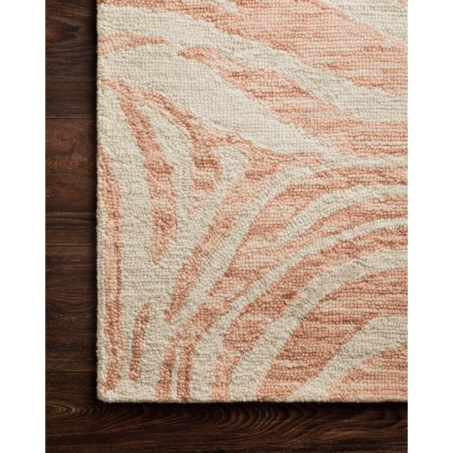 "Contemporary Loloi Rugs Masai Rug, Blush / Ivory - 3'6""x5'6"" For Sale - Image 3 of 4"