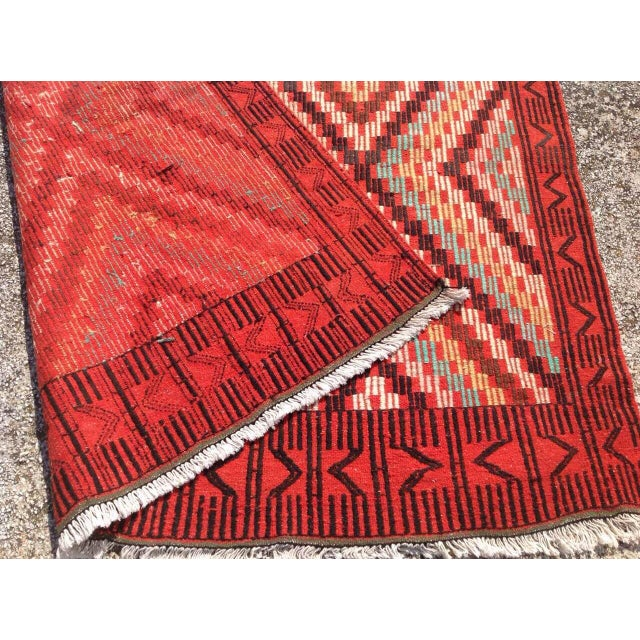 "Vintage Turkish Kilim Rug - 6' x 9'11"" For Sale - Image 7 of 7"
