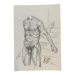 Man I Drawing by Alex Baker For Sale