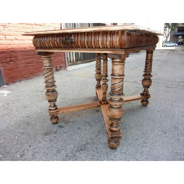 1900's Antique Italian Library/Sofa Table - Image 4 of 5