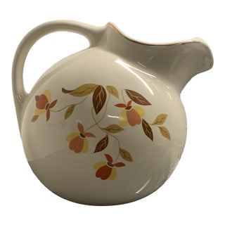 Vintage Hall's Superior Autumn Leaves Pitcher For Sale