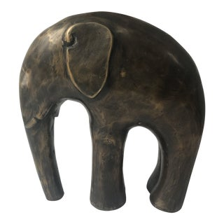 1960s Vintage Brutalist Metal Elephant Figurine For Sale