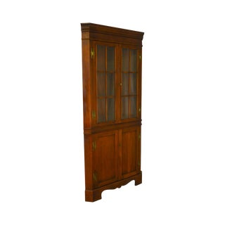 Craftique Vintage Mahogany Chippendale Style Corner Cabinet For Sale